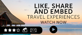 Briefing: like, share and embed travel experiences